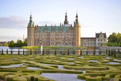 château Danemark Frederiksborg Hillerod Photo stock