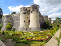 Château dAngers. Angers, France: Along the route of the castles on the Loire River - Château dAngers stock photography