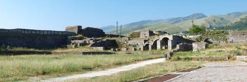 Château dans Gjirokastra, Albanie Images libres de droits