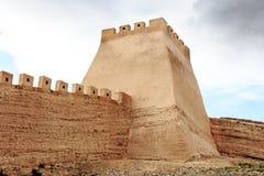 Château dans Jiayuguan, Chine image libre de droits
