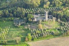 Château dans la forêt Photos stock