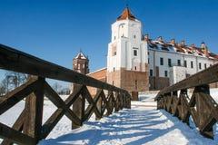Château dans la MIR de ville du Belarus Château médiéval de MIR Photo stock