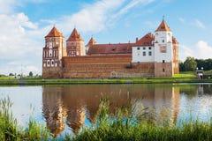 Château dans la MIR de ville du Belarus Château médiéval de MIR Images stock