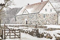 Château dans la neige image libre de droits