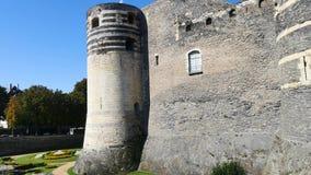 Château dans la ville Angers banque de vidéos