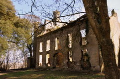 Château dans les ruines Photographie stock
