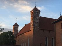 Château dans Lidzbark-Warminsky Photos libres de droits