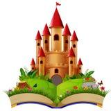 Château dans livre de contes illustration de vecteur
