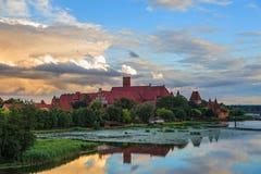 Château dans Malbork Image libre de droits