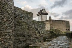 Château dans Narva, Estonie Photographie stock libre de droits