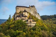 Château dans Orava, Slovaquie photos libres de droits