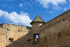 Château dans Stara Lubovna slovakia Fragment de défensive antique Photos stock