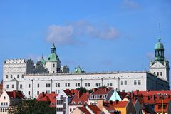 Château dans Szczecin Photo stock