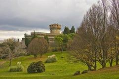 Château dans Volterra Photographie stock libre de droits