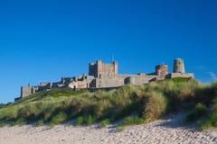 Château de Bamburgh, le Northumberland, Angleterre, l'Europe image stock