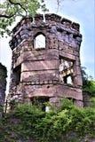 Château de Bancroft, ville de Groton, le comté de Middlesex, le Massachusetts, Etats-Unis Image libre de droits