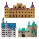 Château de bande dessinée ou citadelle médiéval, vue de face de fort illustration stock