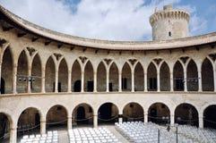 Château de Bellver dans Majorca Photographie stock libre de droits