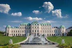 Château de belvédère à Vienne images libres de droits