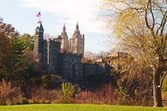 Château de belvédère au Central Park pendant l'automne photo stock