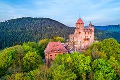 Château de Berwartstein au Palatinat Forest Rhineland-Palatinate, Allemagne photographie stock libre de droits