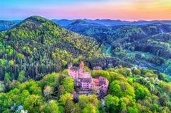 Château de Berwartstein au Palatinat Forest Rhineland-Palatinate, Allemagne image libre de droits