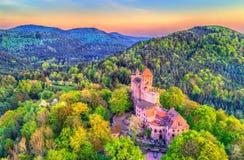 Château de Berwartstein au Palatinat Forest Rhineland-Palatinate, Allemagne photographie stock