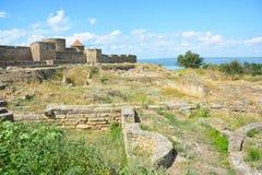 Château de Bilhorod-Dnistrovskyi ou monument architectural de forteresse d'Akkerman des siècles de XIII-XIV Photo stock