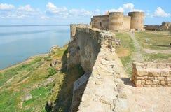 Château de Bilhorod-Dnistrovskyi ou monument architectural de forteresse d'Akkerman des siècles de XIII-XIV en Ukraine Photos stock