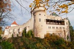 Château de Bojnice au coucher du soleil Photo libre de droits