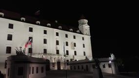 Château de Bratislava la nuit Image libre de droits