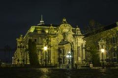 Château de Buda à Budapest la nuit hungary photographie stock