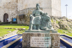Château de bueno d'EL de Guzman, Tarifa, Cadix, Espagne Photos stock