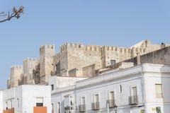 Château de bueno d'EL de Guzman, Tarifa, Cadix, Espagne Images stock