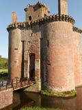 château de caerlaverock Photos stock