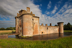Château de Caerlaverock, Dumfries et Galloway, Ecosse Image libre de droits