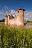Château de Caerlaverock, Dumfries et Galloway, Ecosse Photos stock