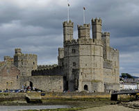 Château de Caernarfon, Pays de Galles, Royaume-Uni photo libre de droits