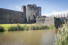 Château de Caerphilly Images stock