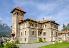 Château de Cantacuzino dans la ville de Busteni de la Roumanie image libre de droits