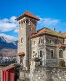 Château de Cantacuzino dans le busteni Roumanie image libre de droits