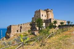 Château de capo Spulico de Roseto La Calabre l'Italie images stock
