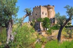 Château de capo Spulico de Roseto La Calabre l'Italie photographie stock