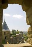 Château de Carcasonne, France Photographie stock libre de droits