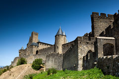 Château de Carcassonne, France l'europe Photographie stock libre de droits