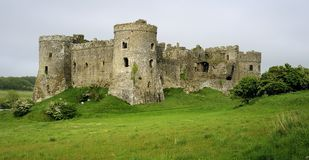 Château de Carew, Pembrokeshire Images libres de droits