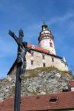 Château de Cesky Krumlov en Tchèque Photos libres de droits