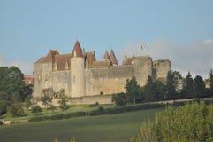 Château de Châteauneuf enAuxois 库存图片