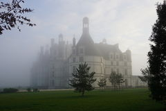 Château de Chambord in the morning mist Royalty Free Stock Photo