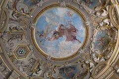 Château de Chantilly, interiores e detalhes, Oise, França fotos de stock royalty free